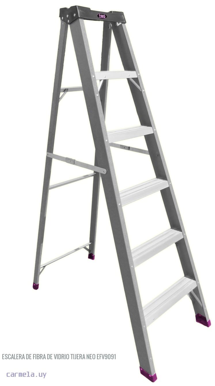 Escalera de fibra de vidrio tijera neo efv9091 barraca - Escalera de fibra de vidrio ...