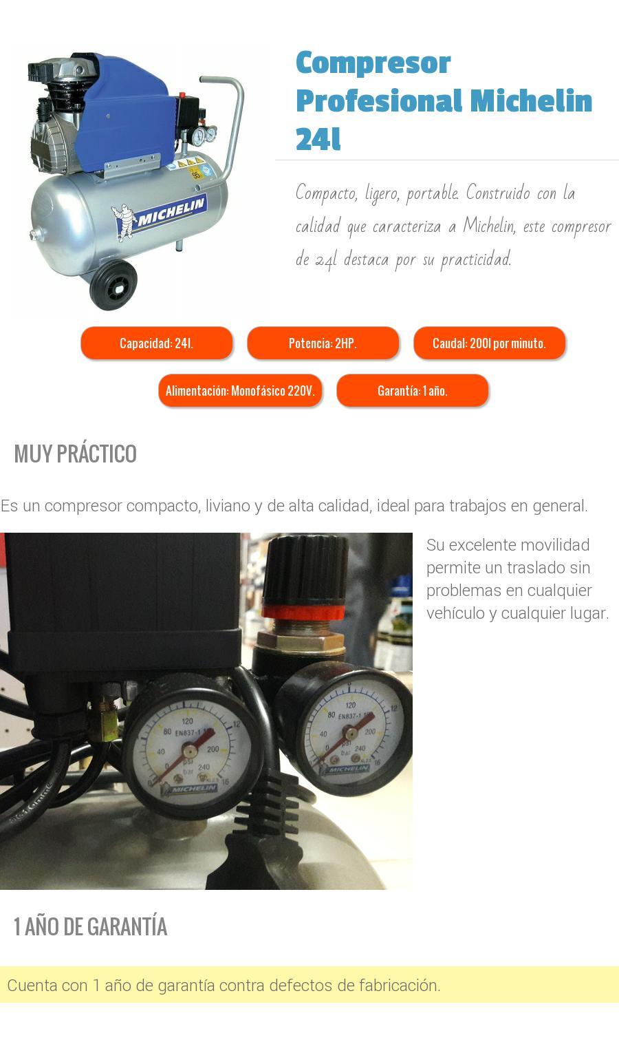 Compresores Michelin en oferta