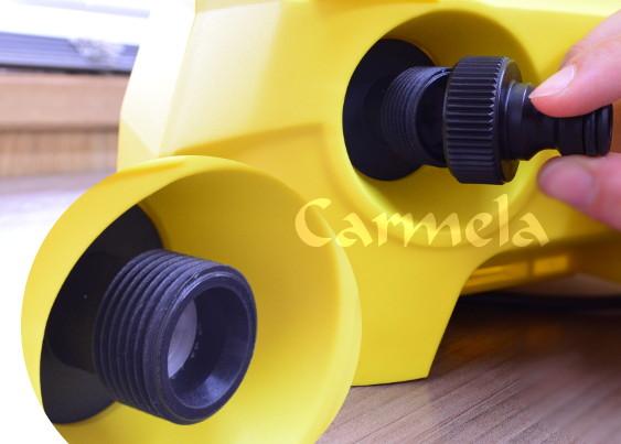 El adaptador para manguera incluido permite mayor compatibilidad en la conexión de la entrada de agua.